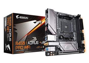 GIGABYTE B450 I AORUS PRO WiFi (AMD Ryzen AM4/M.2 Thermal Guard with Onboard WiFi/HDMI/DP/USB 3.1 Gen 2/Mini ITX/Motherboard)
