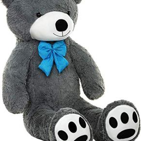 TEDBI Oso de Peluche Gigante 140cm | Gris | Gran Oso de Peluche Animal de Peluche de Juguete Regalo de cumpleaños del…
