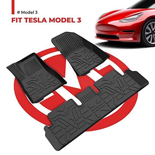 BougeRV - Alfombrillas para Tesla Model 3 2017-2020