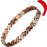 Rainso Womens Magnetic Copper Bracelets for Arthritis Wristband (Petal)