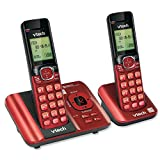 VTech CS6529-26 DECT 6.0 Phone Answering System with Caller ID/Call Waiting, 2 Cordless Handsets, Red