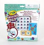 CRAYOLA - Glitter Dots Stencil Adesivi, Set per Giocare e Creare con Il Glitter Modellabile, 04-0802
