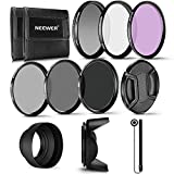 Neewer - Filtri fotografici, per obiettivo da 62 mm, filtri professionali UV/CPL/FLD/filtro a densità neutra (ND) (ND2/ND4/ND8), per Pentax (K-30/K-50/K-5) e Sony Alpha A99/A77/A65