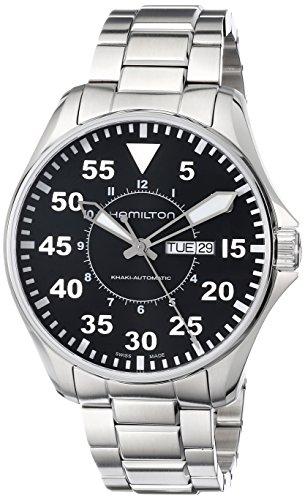 Hamilton Herren-Armbanduhr H64715135 Khaki King Pilot Schwarz Tag Datum Zifferblatt