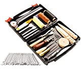 50 Pieces Leather Working Tools and Supplies with Leather Tool Box...