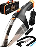 Portable Car Vacuum Cleaner: High Power Handheld Vacuum w/LED Light -110W 12v Best Car & Auto...