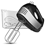 Hand Mixer Electric, Cusinaid 5-Speed Hand Mixer with Turbo Handheld Kitchen Mixer Includes Beaters,...