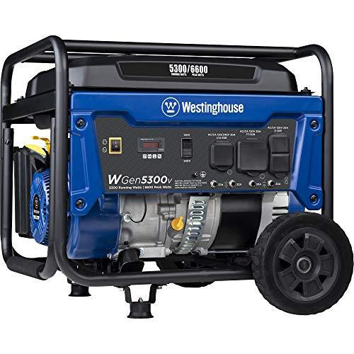 Westinghouse Outdoor Power Equipment WGen5300v Portable Generator...