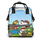 Bolsa de pañales Snoopy Life Mommy Baby Bag multifunción de gran capacidad de viaje mochila de pañales