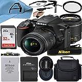 Nikon D3500 DSLR Camera 24.2MP Sensor with NIKKOR 18-55mm f/3.5-5.6G VR Lens, SanDisk 32GB Memory...