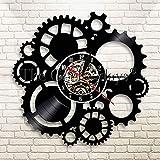 wtnhz Reloj de Pared con Disco de Vinilo LED Reloj de Pared de Vinilo Vintage Movimiento de Cuarzo Diseño Único Hecho De Un Disco De Vinilo Retro No Led