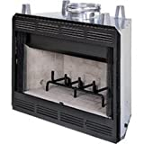Comfort Flame Builder Wood Burning Fireplace, 36-Inch
