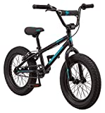 Mongoose Argus MX Kids Fat Tire Mountain Bike, 16-Inch Wheels, Single Speed, 3-Inch Wide Tires, Black