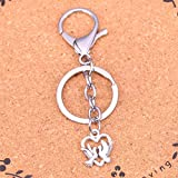 YUIOP Silver Color Alloy Metal Pendant Heart Lover Dove Key Chain Key Ring GiftKeychain Accessory