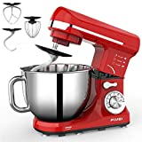 FIMEI Stand Mixer 660W, 5.5 Qt Food Mixer, 6-Speed Tilt-Head Kitchen Mixer (Dough Hook and Beater...