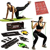 Royal Tiger Fitness Portable Home Gym - All-in-One Resistance Band + Pilates Bar Kit - Total Body Exercise System - Increase Muscle, Tone Body - Easy Setup