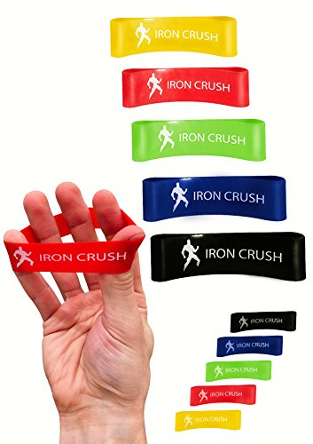 Iron Crush Finger Extensor Hand & Forearm Exerciser (Set of 10)