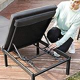Sonnenliege Liegestuhl Gartenliege mit 5 cm Dicker Auflage Polyrattan Rückenlehne verstellbar - 5
