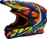 Casque Moto Cross Scorpion VX-21 Air Furio Bleu Orange Jaune Fluo