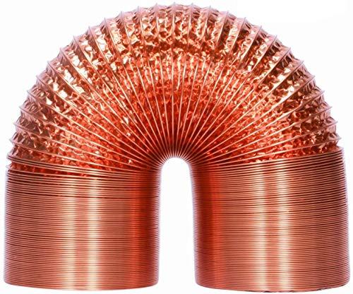 HG Power, tubo flessibile in alluminio da 100 mm, 5 m, resistente al calore, tubo di ventilazione flessibile, isolamento termico, tubo di scarico dell'aria (rame)