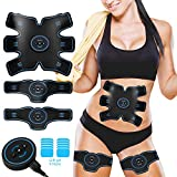 BLUE LOVE Abs Stimulator Abdominal Muscle, EMS ABS Trainer Body Toning Fitness, USB Rechargeable Toning Belt ABS Fit Weight Muscle Toner Workout Machine for Men & Women