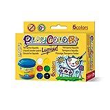 PLAYCOLOR - Lot de 6 pots de peinture gouache liquide - 40 ml. couleurs...