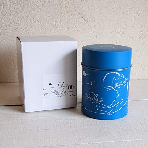 Coffee Canister Cat トラネコボンボン ブルー