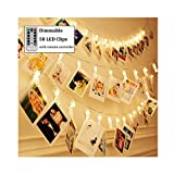 Dimmable 50 LED Photo Clips String Lights...