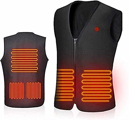AiBast Beheizte Weste, USB-Lade Leichte Heizweste Elektrische Beheizte für Herren und Damen, Waschbare Heizung Warme Weste für Outdoor-Keine Batterie (M)