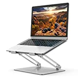 Laptop Stand, Ergonomic Adjustable Notebook Stand, Aluminum Portable Computer Riser with Heat-Vent...