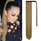 FESHFEN Hairpieces Extensiones de cabello Cola de caballo Extensión de cabello sintético largo con ...