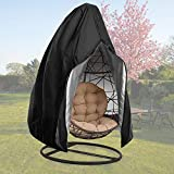 【Upgraded】 Patio Egg Chair Covers with Zipper, Durable Large Wicker Egg Swing Chair Covers, Waterproof Heavy Duty Weather Resisatnt Outdoor Chair Cover, Windproof Hanging Chair Cover