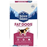 Natural Balance Fat Dogs Low Calorie Dry Dog Food, Chicken Meal, Salmon Meal,...