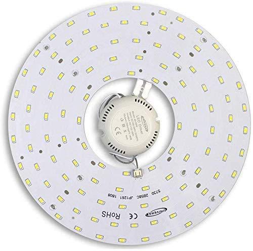Universo - Circolina Corona Led Tonda 5060Lm Modulo Circolare Ricambio Neon per Plafoniere Luce Calda 3000k 46 watt 265v