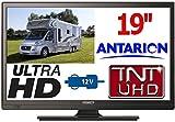 TV19B - TÉLÉVISEUR Camping Car Camion LED 18,5' 48cm UHD 24V 12V ANTARION