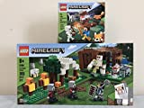 Lego Minecraft The Pillager Outpost 21159 Bundle The Taiga Adventure 21162