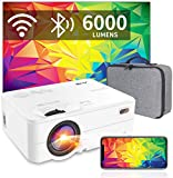 Mini Proyector WiFi Bluetooth 6000 Lúmenes, Artlii Enjoy2 Mini Proyector Portátil Móvil 720P Nativo, 300' Proyector Cine en Casa para Smartphone/Android/iPhone