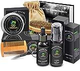 Beard Growth Grooming Kit w/Beard Shampoo/Wash,Beard Growth Oil,Beard...