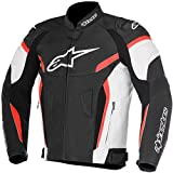 Alpinestars Men's GP Plus R V2 Airflow Leather Motorcycle Jacket, Black/White/Red, 56