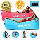 INNOCEDEAR 2 Pack Inflatable Lounger Air Sofa Hammock,Inflatable Couch Air ChairCamping AccessoriesWaterproof Anti-Air Leaking for Outdoor Backyard Beach Traveling Picnics & Music Festivals