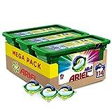 Ariel Allin1 Pods Color - Detergente en cpsulas para la lavadora, ptimo para mantener el color y brillo de tus prendas, 114 lavados (3 x 38)