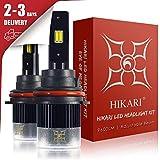 HIKARI LED Headlight Bulbs Conversion Kit-9004/HB1, 2019 New Gen of HIKARI, Adjustable Beam, 9600lm 6K Cool White