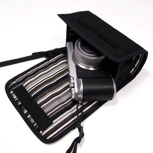 suono(スオーノ) LUMIX GX7 MarkIIケース(ブラック・アルバグレイ) --ハンドメイド