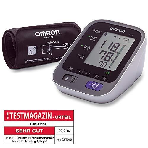 Omron M500 Oberarm-Blutdruckmessgerät mit Intelli Wrap Manschette für mehr Sicherheit und Präzision bei der Blutdruckmessung