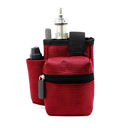 Gintai Ego Travel Carry Vape Case Multiple Use for Vape Box Mod Kit Bag (Red)