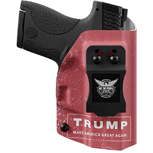 We The People - Trump Right Hand Inside Waistband Concealed Carry Kydex IWB Holster Compatible with Springfield XD-S 3.3' 9MM/40SW/45ACP Gun