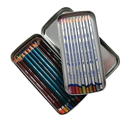 Derwent Pencil Tin, Scatola in Metallo a Doppio Strato con Capacit di 42 Matite