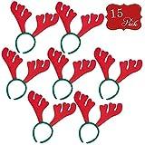 THE TWIDDLERS 15 Serre-Têtes avec Bois de Rennes   Chapeau de Fête, Esprit de Noël, Accessoire Idéal pour Les Costumes et Soirées Déguisées, Égaye Les Festivités