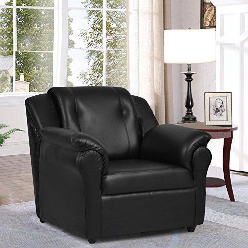 Furny York Single Seater Sofa (Black)