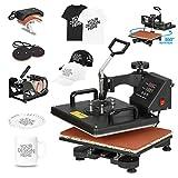 F2C 5 in 1 Pro Heat Press Machine 12x15 Digital Heat Transfer...